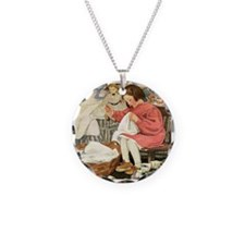 Little Girl Sewing Necklace