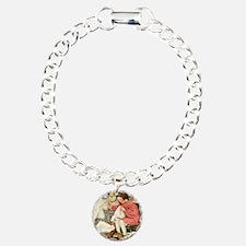 Little Girl Sewing Charm Bracelet, One Charm