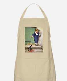 A Boy and His Puppy Apron