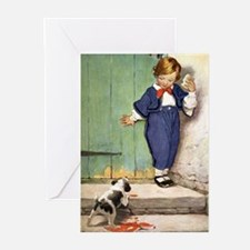 A Boy and His Puppy Greeting Cards (Pk of 10)