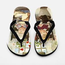 Children Saying Grace Flip Flops