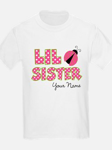 Little Sister Ladybug Pink T-Shirt