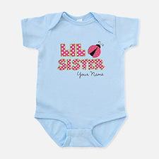Little Sister Ladybug Pink Infant Bodysuit