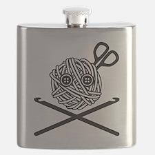 Pirate Crochet Flask