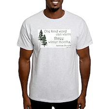 Kind Word Ash Grey T-Shirt