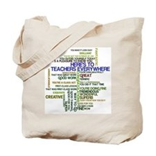 Great Teachers Word Art Tote Bag