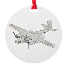 Douglas A-26 Invader -colored.png Round Ornament