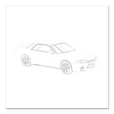 "Nissan Skyline GT-R.png Square Car Magnet 3"" x 3"""