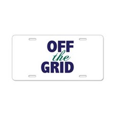 Off the Grid Aluminum License Plate