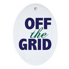 Off the Grid Ornament (Oval)