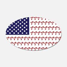 Patriotic BMX Bike Rider/USA 22x14 Oval Wall Peel