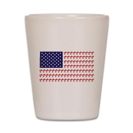 Patriotic BMX Bike Rider/USA Shot Glass