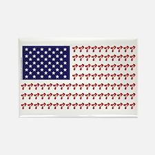 Patriotic BMX Bike Rider/USA Rectangle Magnet