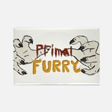 Primal Furry Rectangle Magnet