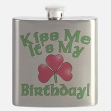 Kiss Me It's My Birthday St. Pat's Flask