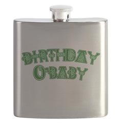 Birthday O'Baby St. Patricks Flask