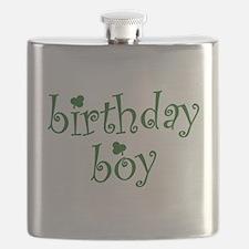 St. Patricks Day Birthday Boy Flask