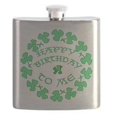 St Pats Happy Birthday To Me Flask