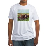 DEGAS' HORSES Fitted T-Shirt