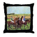 DEGAS' HORSES Throw Pillow
