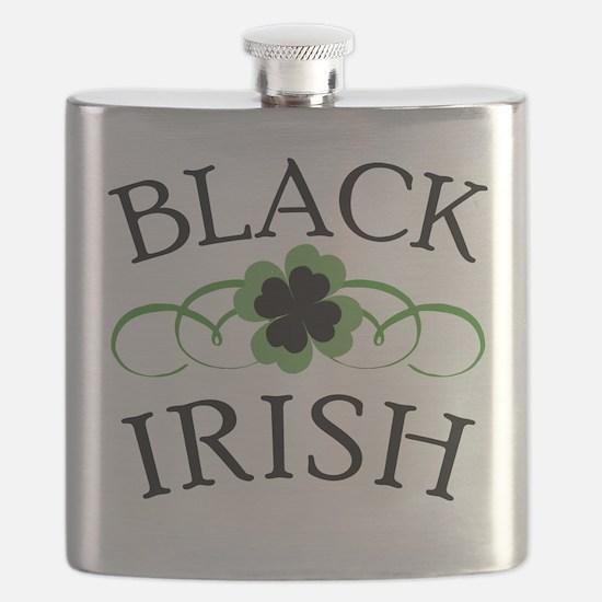 Black Irish with Fancy Shamrock Flask