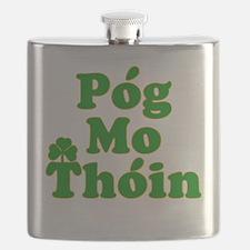 Pog Mo Thoin Kiss My Ass Flask