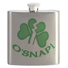 O'Snap Funny Shamrock Flask