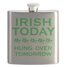 Irish Today Hung Over Tomorrow Flask