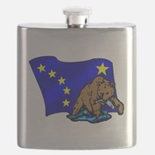 Alaskan Bear Flag Flask