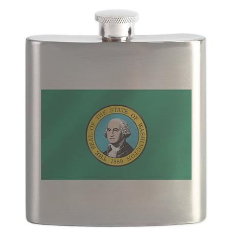 Washington State Flag Flask