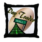 Day Trader Throw Pillow