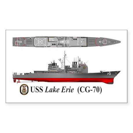 USS Lake Erie CG-70 Sticker (Rectangle)