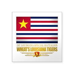 "Wheats Louisiana Tigers Square Sticker 3"" x 3"""