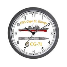 USS Cape St. George CG-71 Wall Clock