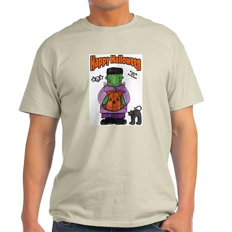Frankenstein Trick or Treater Ash Grey T-Shirt