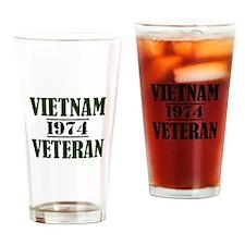 VIETNAM VETERAN 74 Drinking Glass