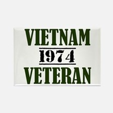 VIETNAM VETERAN 74 Rectangle Magnet