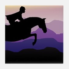 Cute Horse trainer Tile Coaster