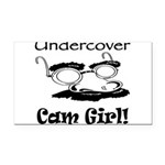 undercover-cam-girl.png Rectangle Car Magnet