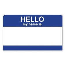 Hello my name is Blank Decal