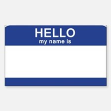 Hello my name is Blank Sticker (Rectangle)