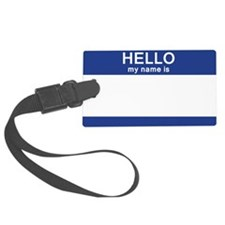 Hello my name is Blank Luggage Tag