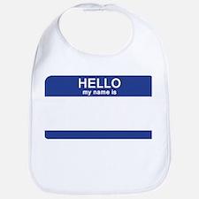 Hello my name is Blank Bib