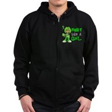 Licensed Fight Like a Girl 42.8 Zip Hoodie