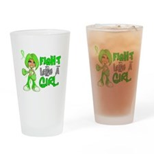 Licensed Fight Like a Girl 42.8 NH Drinking Glass