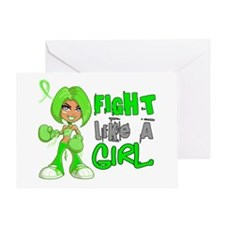 Licensed Fight Like a Girl 42.8 NH L Greeting Card