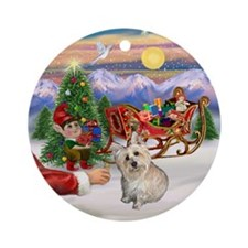 Treat for a Cairn Terrier Ornament (Round)