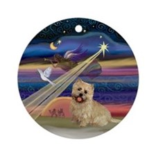 Xmas Angel-Cairn Terrier (#13) Ornament (Round)