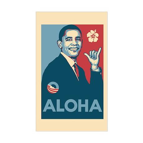 Obama Aloha Sticker (Rectangle)