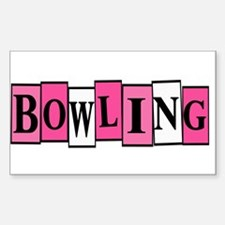 Pink and White Bowling Decal